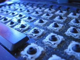 teclado plagas de oficina